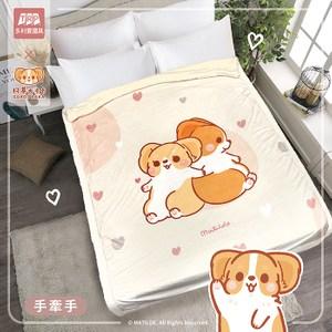 【柯基犬卡卡】水晶羊羔毯(五款任選)-品牌聯名獨家合作悠閒時光
