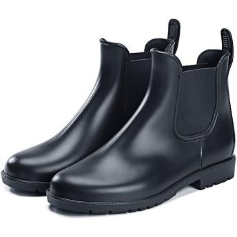 [ティーピーオーエス] レディース レイン ブーツ レインシューズ おしゃれでかわいい アウトドア 防水 雨の日濡れない ハイカット 長くつ 靴 (35, ブラック)