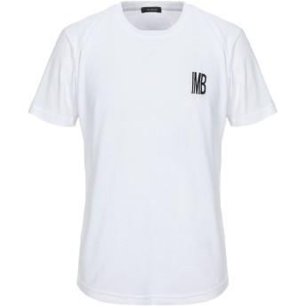 《セール開催中》IMB I'M BRIAN メンズ T シャツ ホワイト S コットン 100%