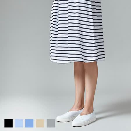 Sky Yard 女裝-短袖條紋洋裝