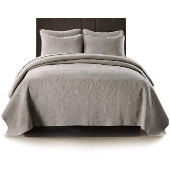 無地ベッドカバーキルティングベッドカバー綿100%パッチワークキルトダブル人寝具3点セット枕カバー50X90CMX2掛け布団,230CMX250CM