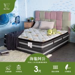 維塔小姐Ms.Vita    海龜阿公-環保天絲2.5CM天然乳膠3.0傳統硬床-標準單人3尺