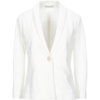 《セール開催中》CIRCOLO 1901 レディース テーラードジャケット ホワイト 42 コットン 97% / ポリウレタン 3%