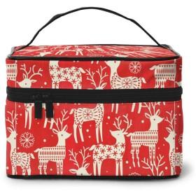 化粧ポーチ メイクボックス 可愛い子鹿 コスメボックス 化粧バッグ 大容量収納ケース トラベルバッグ 小物入れ 収納ボックス 洗面用具入れ 出張 旅行 家用 收納抜群 ファスナー