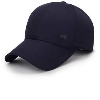 LKJASDHL 男性と女性の野球帽ソリッドカラーの綿の帽子秋の帽子アウトドアスポーツサンハットサンハットヒップホップキャップスポーツ快適な通気性 (色 : Navy)