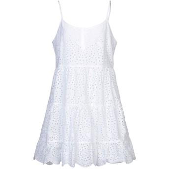 《セール開催中》TRUE RELIGION レディース ミニワンピース&ドレス ホワイト L コットン 100%