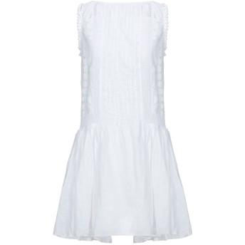 《セール開催中》DONDUP レディース ミニワンピース&ドレス ホワイト 42 ラミー 100%