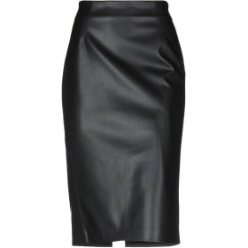《セール開催中》VIA MASINI 80 レディース 7分丈スカート ブラック 46 ポリウレタン 60% / ナイロン 40%