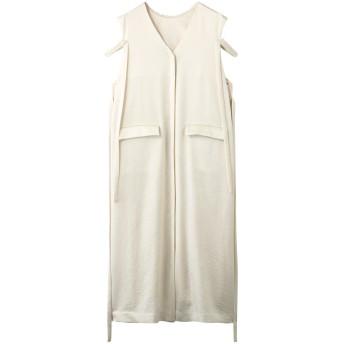 Rito リト サマーツイードサテンノースリーブドレス ホワイト