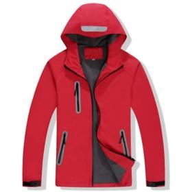 ジャケット反射肥厚ジャケットアウトドアサイクリングウェア秋冬クライミング作業着ユニセックスコート (Color : Red, Size : XXL)