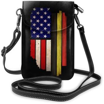 小さなクロスボディバッグヴィンテージ米国ベルギー旗携帯電話財布クレジットカードスロット付き女性と十代の女の子のための財布ショルダーバッグ