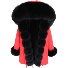冬のジャケットの女性は厚いパーカーの自然な実質のつばのコート、13、Sを使い果たします