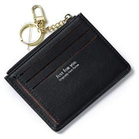 Star Blossom 財布 カード入れ 二つ折り カードケース 財布 メンズ 薄型 レディース おしゃれ 名刺入れ カード入れ 人気ブランド 男女兼用 多彩 PU製 小銭入れ ミニ 小さい (ブラック)