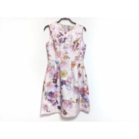 ローズティアラ Rose Tiara ワンピース サイズ36 S レディース 美品 ピンク×マルチ 花柄【中古】20191230