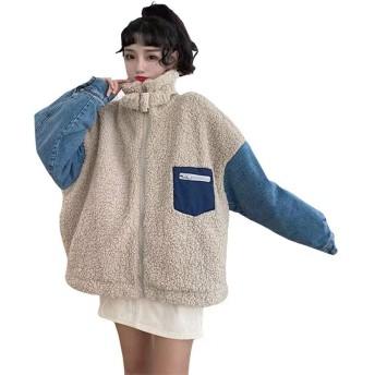ボアブルゾン 秋冬 ゆったり ボア ジャケット ボアコート レディース 暖かい もこもこ フリース 防寒 可愛い アウター 胸ポケット カジュアル ファッション ジーンズ 通学 通勤 デート おしゃれ