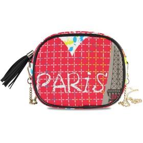 KAPANOU レディース チェーンバッグ,パリ市愛ロマン主義,ミニファッションかわいいデザインショルダーバッグパーソナライズされたカスタムの異なるスタイルの色