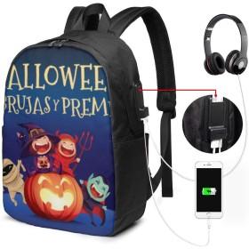 ハロウィンキッズコスチュームパーティー 大容量 防水 リュック 多機能 軽量 カジュアル リュックサック 旅行 通学 メンズ レディース アウトドア USBポート付き
