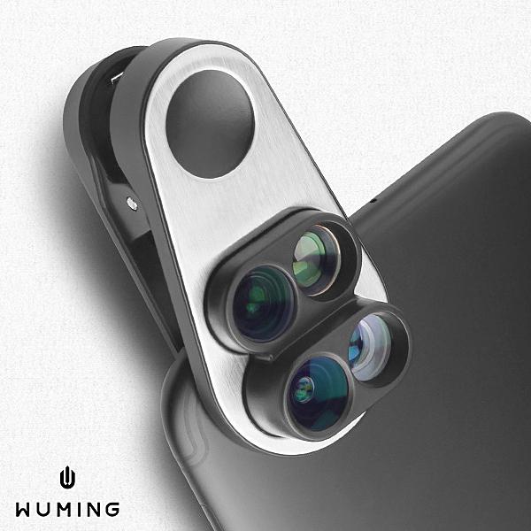 iPhone8 7 Plus 手機鏡頭 夾式鏡頭 廣角鏡頭 魚眼 長焦 微距 攝影 自拍神器 『無名』 M10105