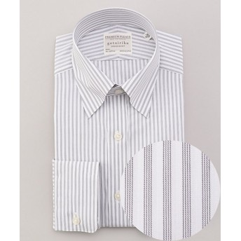 <五大陸/gotairiku> PREMIUMPLEATS ドレスシャツ / スナップボタンカラー(HDGOBM0008) グレー【三越・伊勢丹/公式】