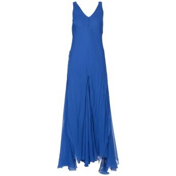 《セール開催中》ALBERTA FERRETTI レディース ロングワンピース&ドレス ブルー 48 100% シルク
