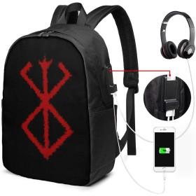 ベルセルク リュック 大容量 バックパック USBポート 耐衝撃 PCリュックサック 通勤 通学 旅行 男女兼用 USB延長コード付き パソコンバッグ 軽量 多機能
