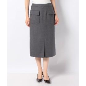 【27%OFF】 レリアン ポケット付きタイトスカート レディース グレー系 9 【Leilian】 【セール開催中】