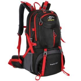 登山バッグ 山のハイキングスキーのためのアウトドアレジャー旅行登山バックパック防水ハイキングさん男性の雨運動 旅行キャンプ用 (Color : Blue, Size : One size)