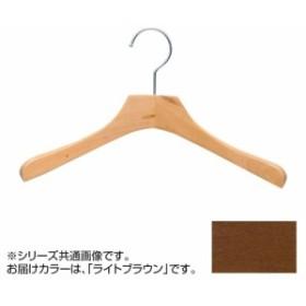 日本製 木製ハンガーレディス・キッズ用 ライトブラウン 5本セット T-5407 肩幅32cm×肩厚3.3cm