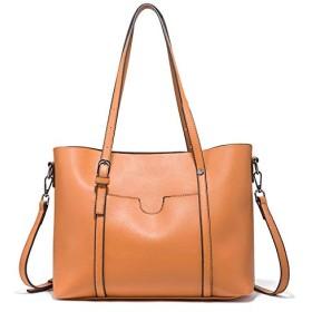 Declamatory容量ハンドバッグ、レザーショルダーバッグ、ハンドバッグ、レディースショルダーバッグ、ショルダーバッグ 女史の女の子大容量 (色 : Brown)