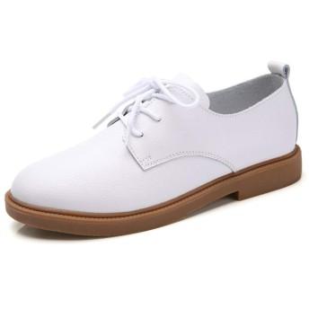 MMA-LX Woman High-heeled Shoes さり気ない靴太いレースフィット通気性は、ヘッドパンチングシューズを回し (Color : White, Size : 39 EU)