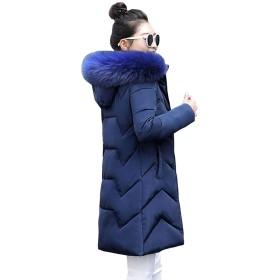 冬のコートの女性のジャケットフード付きパーカ暖かい冬のジャケットの女性は女性プラスサイズの女性のダウンジャケット、ダークブルー6、L