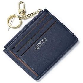 Star Blossom 財布 カード入れ 二つ折り カードケース 財布 メンズ 薄型 レディース おしゃれ 名刺入れ カード入れ 人気ブランド 男女兼用 多彩 PU製 小銭入れ ミニ 小さい (ダークブルー)