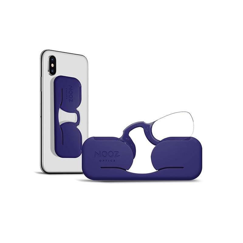 時尚造型老花眼鏡(便攜黏貼款-藍) 200