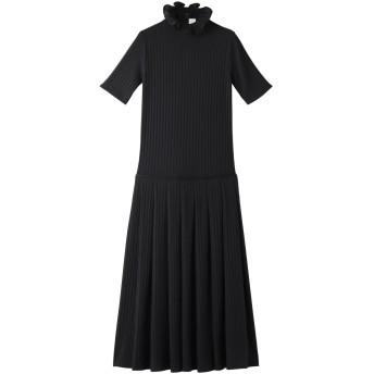 Victoria Victoria Beckham ヴィクトリア ヴィクトリア・ベッカム ジャージーラッフルネックドレス ミッドナイトブルー