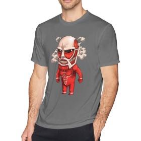多色 Tシャツ 進撃の巨人 Attack on Titan トップス メンズ クルーネック 半袖 スポーツシャツ Men's T-Shirt