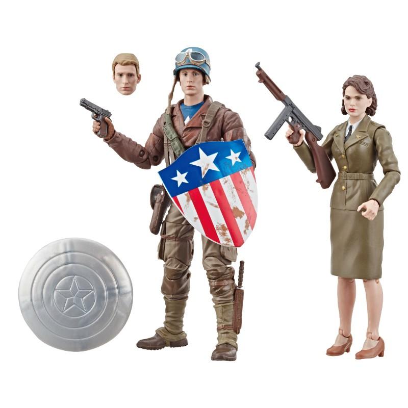 Marvel 漫威 傳奇80周年-電影版美國隊長 史蒂芬·羅傑斯&佩姬·卡特 玩具反斗城