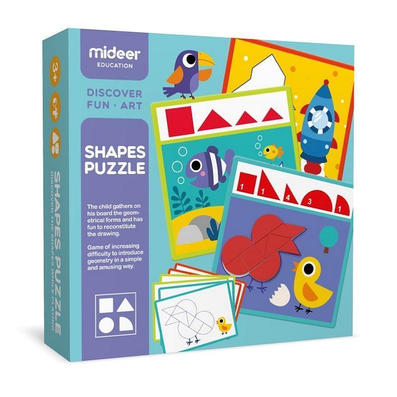 兒童幾何木片拼圖