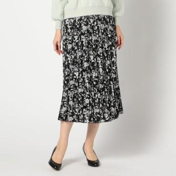 GALLORIA レディース 【在庫限り】花柄プリーツスカート