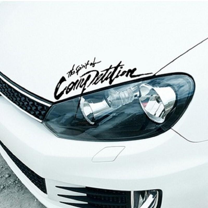 拉力賽精神 車身貼紙 車貼 燈眉車貼 引擎蓋貼 the spirit of competitio