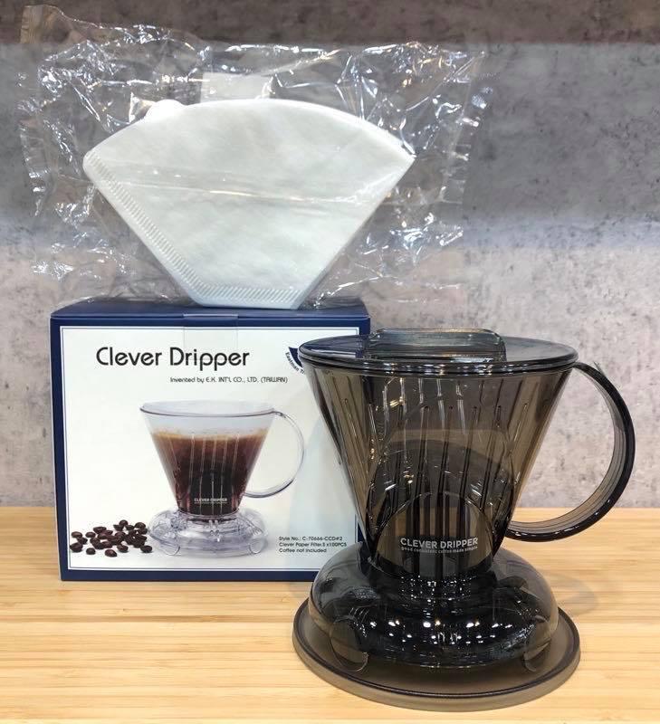 全配組贈攪拌棒Clever Dripper 聰明濾杯 S號300ml/L號500ml 含濾杯蓋 置杯墊 100入濾紙『93 coffee wholesale』