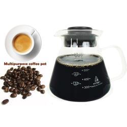 SYG台玻~台灣600ml咖啡壺-玻璃把手(買1送1隨機出貨)
