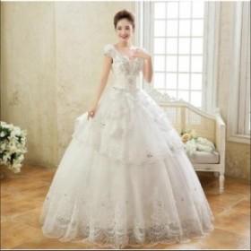 結婚式 披露宴 謝恩会 二次会ドレス ホワイト ロングドレス 礼服  イブニングドレス ウエディングドレス 高品質ドレス 花嫁 カラードレス