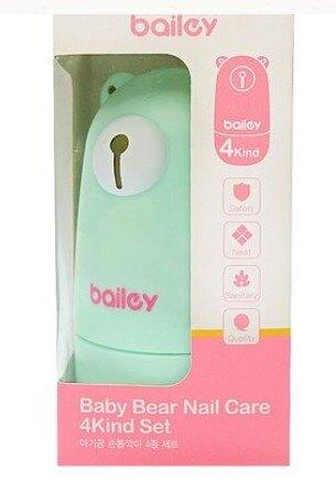 【BAILEY】貝睿 嬰兒指甲剪 寶寶安全指甲剪4件組 (多色)