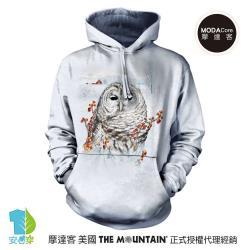 美國The Mountain 秋之貓頭鷹 環保藝術長袖連帽T恤