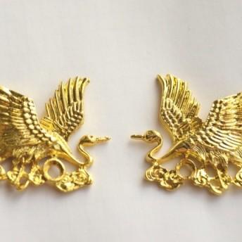 ◆全品送料無料◆gold crane のモチーフ デコパーツ