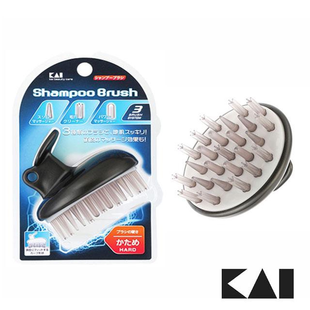 【日本貝印KAI】洗頭按摩刷 - 黑 HB-1205