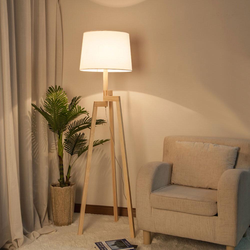 永光北歐風 客廳 書房 閱覽室 簡單大方 落地燈 立燈 鐵藝烤漆 布罩 附腳踏開關 光源另計f4