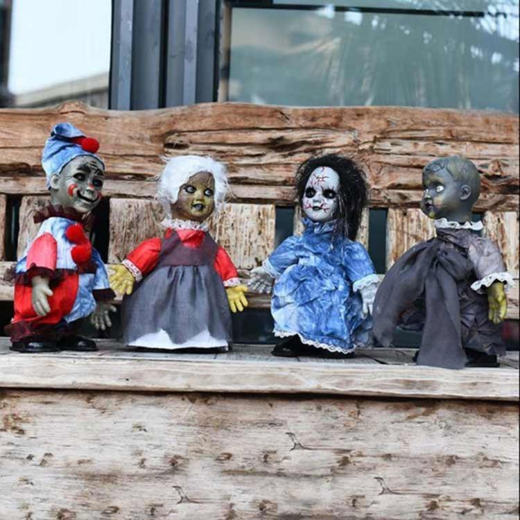 萬圣節裝飾擺件恐怖走路鬼娃鬼節鬼屋酒吧整蠱搞笑道具鬼娃娃玩具