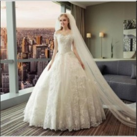 [ホワイト] 礼服 結婚式 高品質ドレス カラードレス パーティードレス 豪華 ウエディングドレス 花嫁 ロングドレス イブニングドレス  二