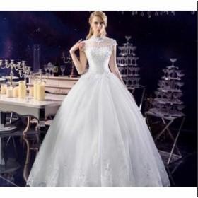 花嫁 ロングドレス イブニングドレス  二次会ドレス[ホワイト] 礼服 結婚式 高品質ドレス カラードレス パーティードレス 豪華 ウエディ